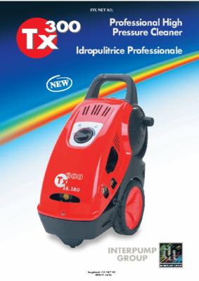TX300 magasnyomású mosó