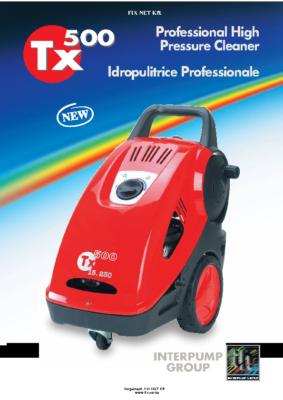 TX500 magasnyomású mosó